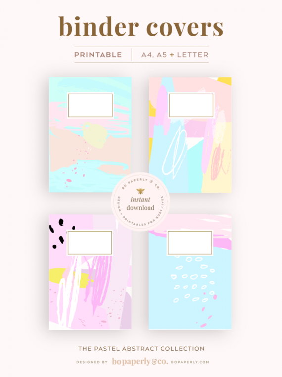 Binder Cover Printables | Planner Printables by Bo Paperly + Co. Studio