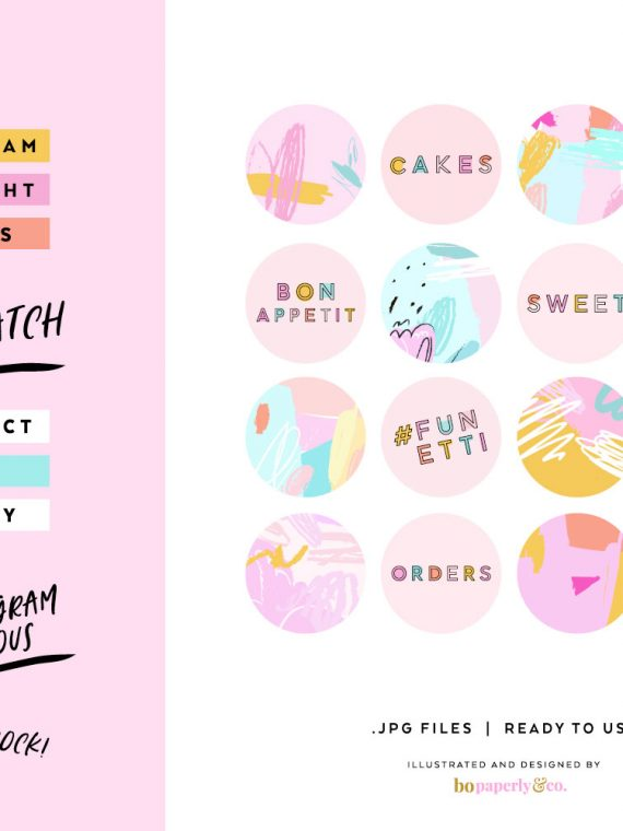 Instagram HIghlight Cover Icons | Design by Bo Paperly & Co. Studio